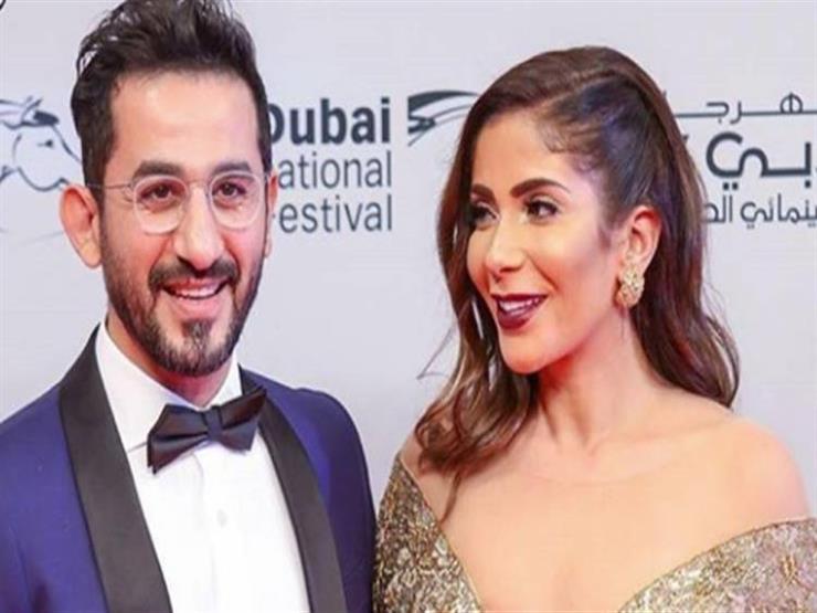 ليلي علوي واحمد رزق وهند صبري يهنئون احمد حلمي ومني ذكي بعيد زواجهما