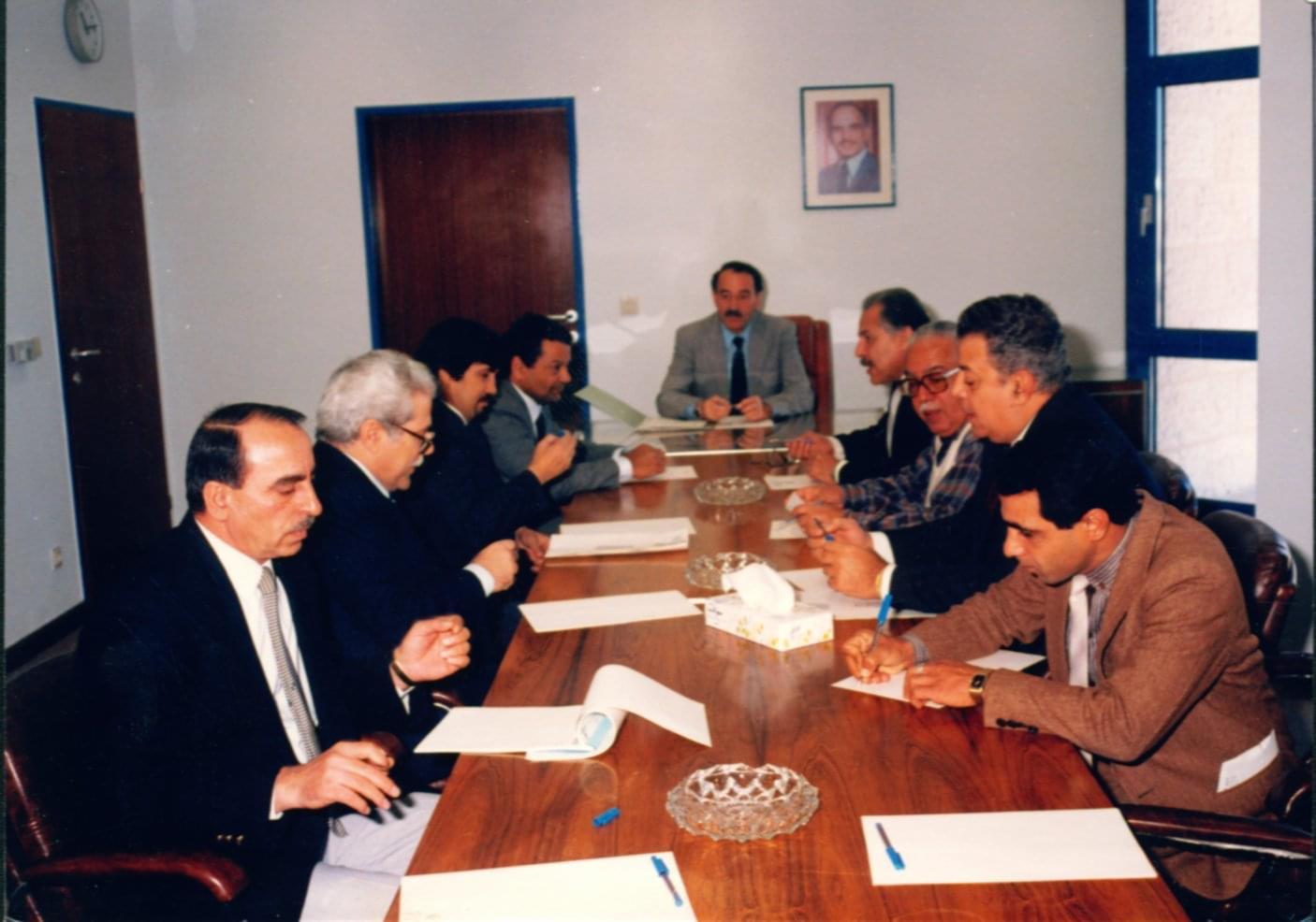 جواد مرقة أول رئيس لاتحاد المنتجين الأردنيين لأعمال التليفزيون 1989.